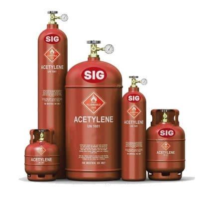 indsutrial acetylene gas
