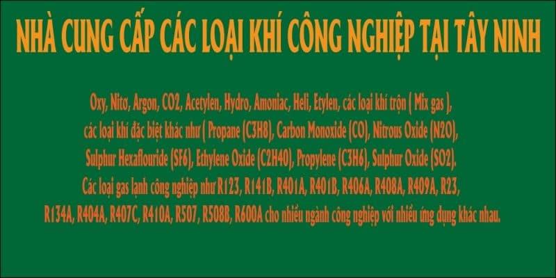 Nhà Cung Cấp Khí Công Nghiệp Tại tây Ninh